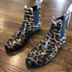 Banana Republic Leopard Rain Boots